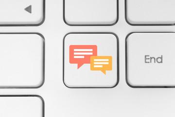 Social media keyboard button.