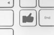 Like button on keyboard.