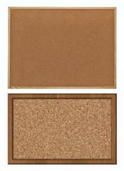 cork bulletin board, set