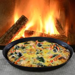 Leckere Pizza aus dem Steinofen