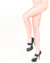 Long and Slim Beauty Isolated