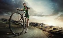 "Постер, картина, фотообои ""Sport. Road cyclist"""