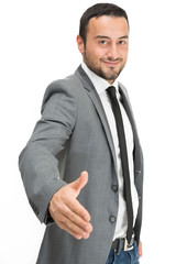 Businessman handshaking