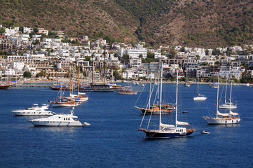 Boats in the Port of Bodrum