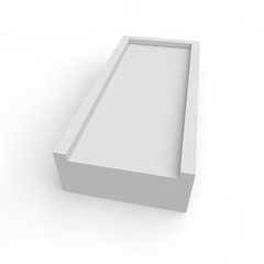 Blank white box for gifts and products