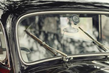 old vintage car fragment