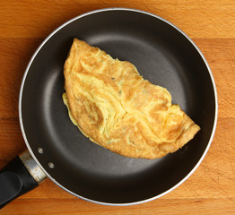 Omelette in Frying Pan