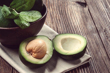 avocado on table
