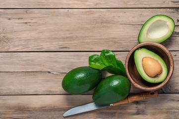 avocado on table