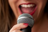 Singer recording poster