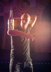 Acrobatic show barman - Professional bartender at night club
