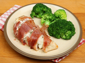 Stuffed Chicken Breast Wrapped in Pancetta