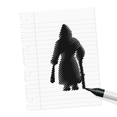 papierblatt filzstift krampus I