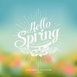 Beautiful Typographical Spring Background - 72633553