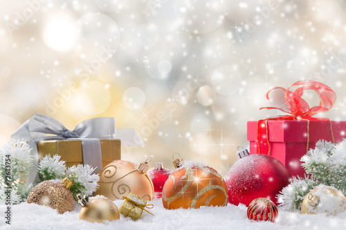 canvas print picture Abstract Christmas background
