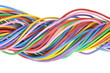 Bunch of colorful electrical cables