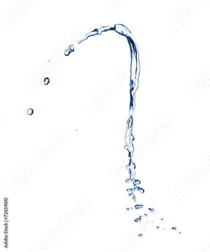 Water splash over white background - 72634100