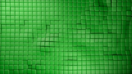 plastic green cubes background