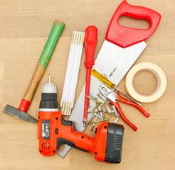 Werkzeug für die Arbeit im Haus