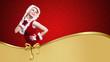 Weihnachtsfrau auf Gutscheinmotiv