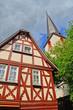 Fachwerkhaus und Kirche in Traben-Trarbach, Mosel Deutschland