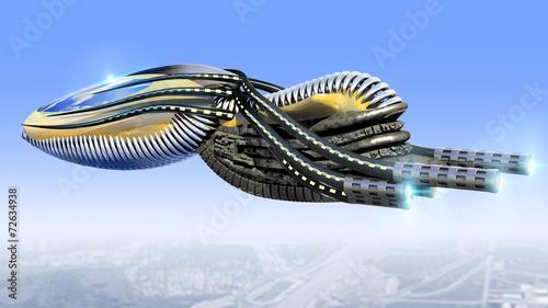 3D Futuristic alien drone