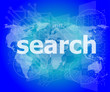 SEO web development concept: words Search on digital background