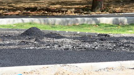 Create asphalt road.