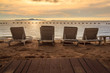 Beach Chairs Sunset View