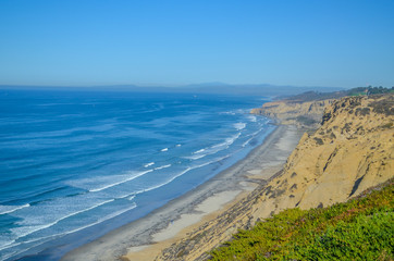 Amazing view of Pacific coast, San Diego, California