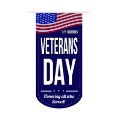 Veterans day banner design