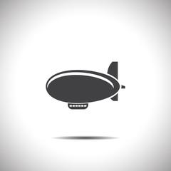 airship zeppelin vector icon