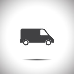 commercial van vector icon