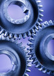 Closeup of gears, industrial mechanism  - 72638935