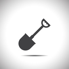 shovel vector icon