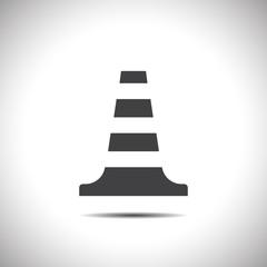 traffic cone vector icon