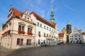 Rathausplatz von Pirna Sachsen