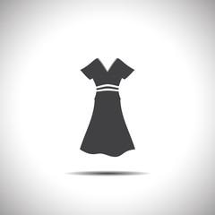 woman dress vector icon