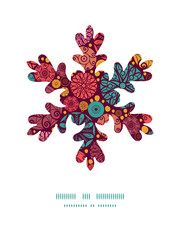 Vector abstract decorative circles Christmas snowflake