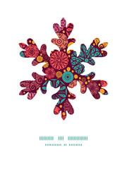 Vector abstract decorative circles Christmas snowflake