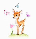 Cute fawn - 72640350