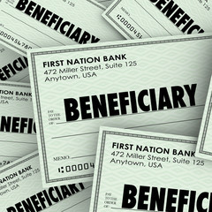 Beneficiary Word Checks Insurance Heir Recipient Money Inheritan