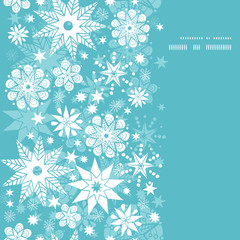 Vector decorative frost Christmas snowflake silhouette pattern