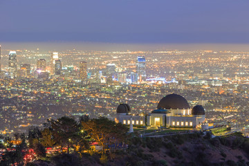 Los Angeles Night Cityscape, Griffin Observatory