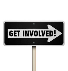 Get Involved Road Sign Participate Join Engagement Group