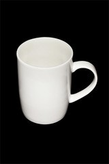 white cup with black background,isolate picture