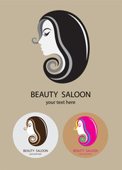 Beauty saloon, art vector logo design