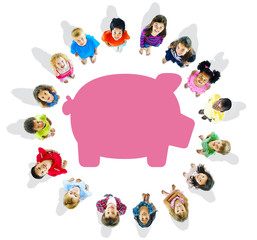 Multi-Ethnic Children and Savings Concepts
