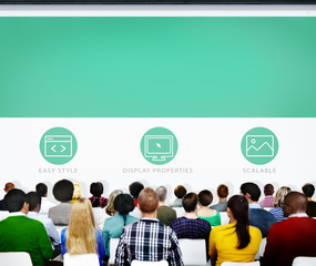 Group of People Seminar Web Page Concepts