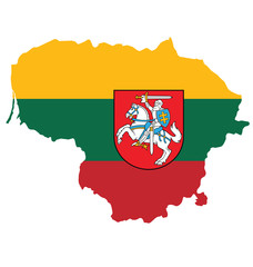 Flag and coat of arms of the Republic of Lithuania